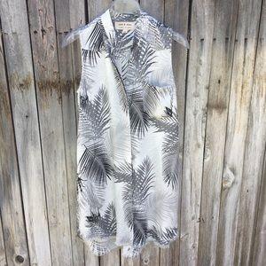 NWOT Cloth & Stone Palm Leaves Sleeveless Tunic XS